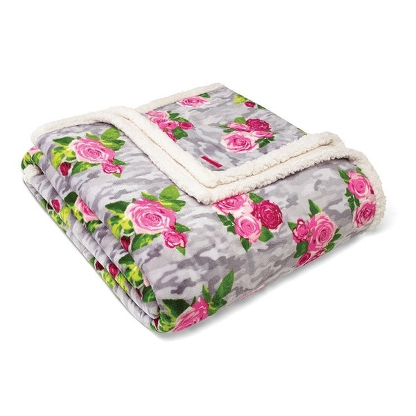 Betsey Johnson Camouflage Pink Blanket