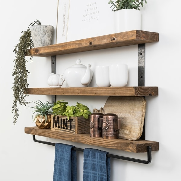 Del Hutson Designs Industrial Grace Three-Tier Floating Shelves