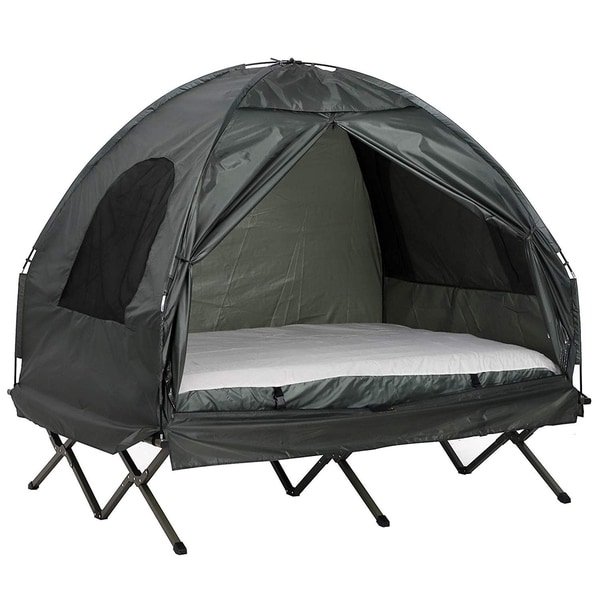 Outsunny 2-person Portable Elevated Camping Cot Tent Combo Set. Opens flyout.