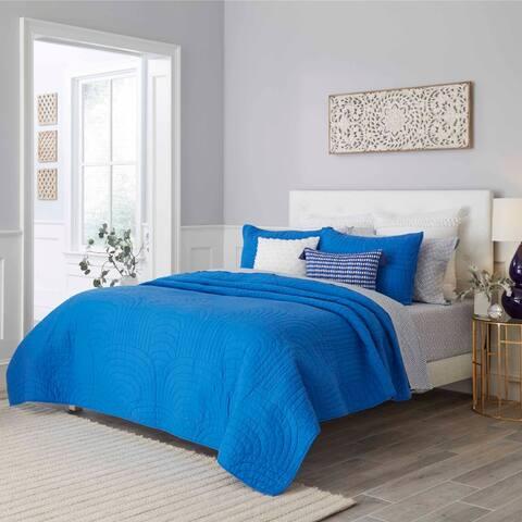 Trina Turk Palm Desert Dark Blue Quilt Set
