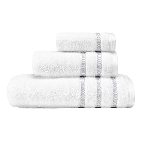 Shop Vera Wang Textured Trellis 3 Piece Towel Set On