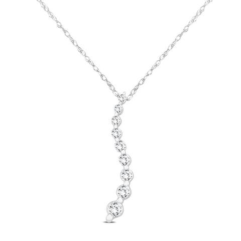 1/4 Carat TW Diamond Journey Pendant in 10K White Gold