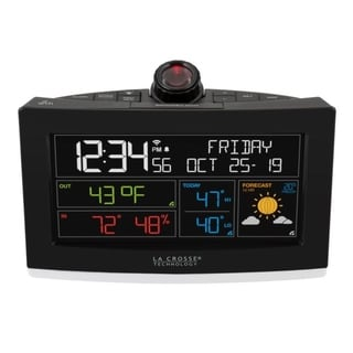 La Crosse Technology C82929 WiFi Projection Alarm Clock with AccuWeather