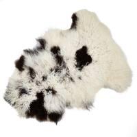 Natural Mongolian Lamb Fur Throw Rug - 24 x 35