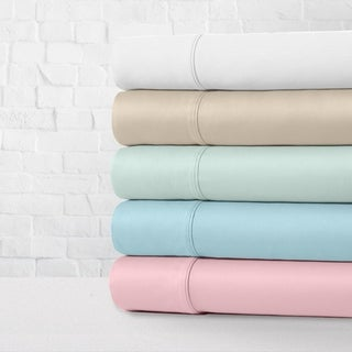 Link to Luxe Cotton Percale Crisp and Cool 4-Piece Bed Sheet Set Similar Items in Mattress Pads & Toppers