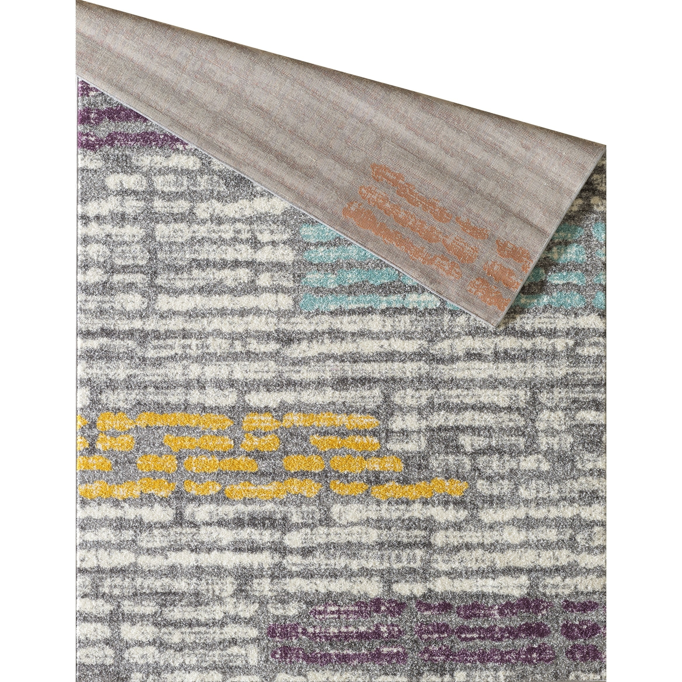 L Baiet Alice Grey Striped Rug