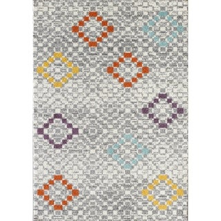 L'Baiet Olivia Grey Geometric Rug