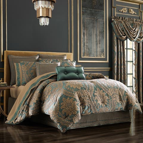 Gracewood Hollow Koryun Emerald Jacquard Comforter Set
