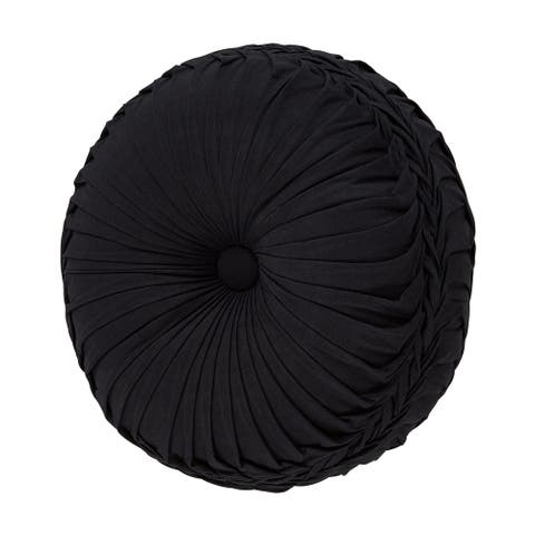 Gracewood Hollow Chauhan Round Tufted Decorative Throw Pillow