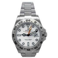Pre-owned 42mm Rolex Stainless Steel Oyster Perpetual Explorer II Watch with Dial - N/A - N/A