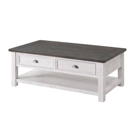 The Gray Barn Downington Wood 2-drawer Coffee Table