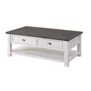 Carbon Loft Commodus Wood 2-drawer Coffee Table