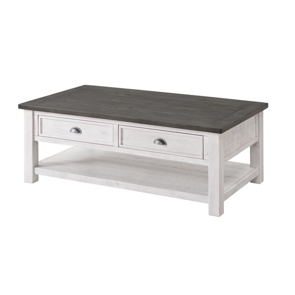 The Gray Barn Downington Wood 2-drawer Coffee Table. Opens flyout.