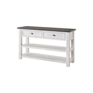 The Gray Barn Downington Solid Pine 2-drawer Sofa Console Table