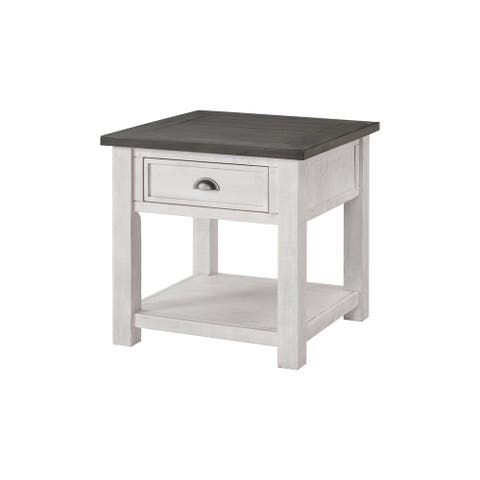 The Gray Barn Downington Solid Wood End Table
