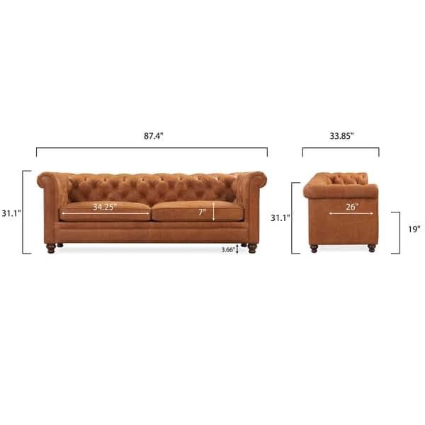 Strange Shop Gracewood Hollow Magwa Button Tufted Leather Sofa With Lamtechconsult Wood Chair Design Ideas Lamtechconsultcom