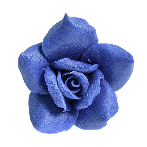 Handmade Beautifully Detailed Handmade Blooming Blue Rose Pendant (Thailand)
