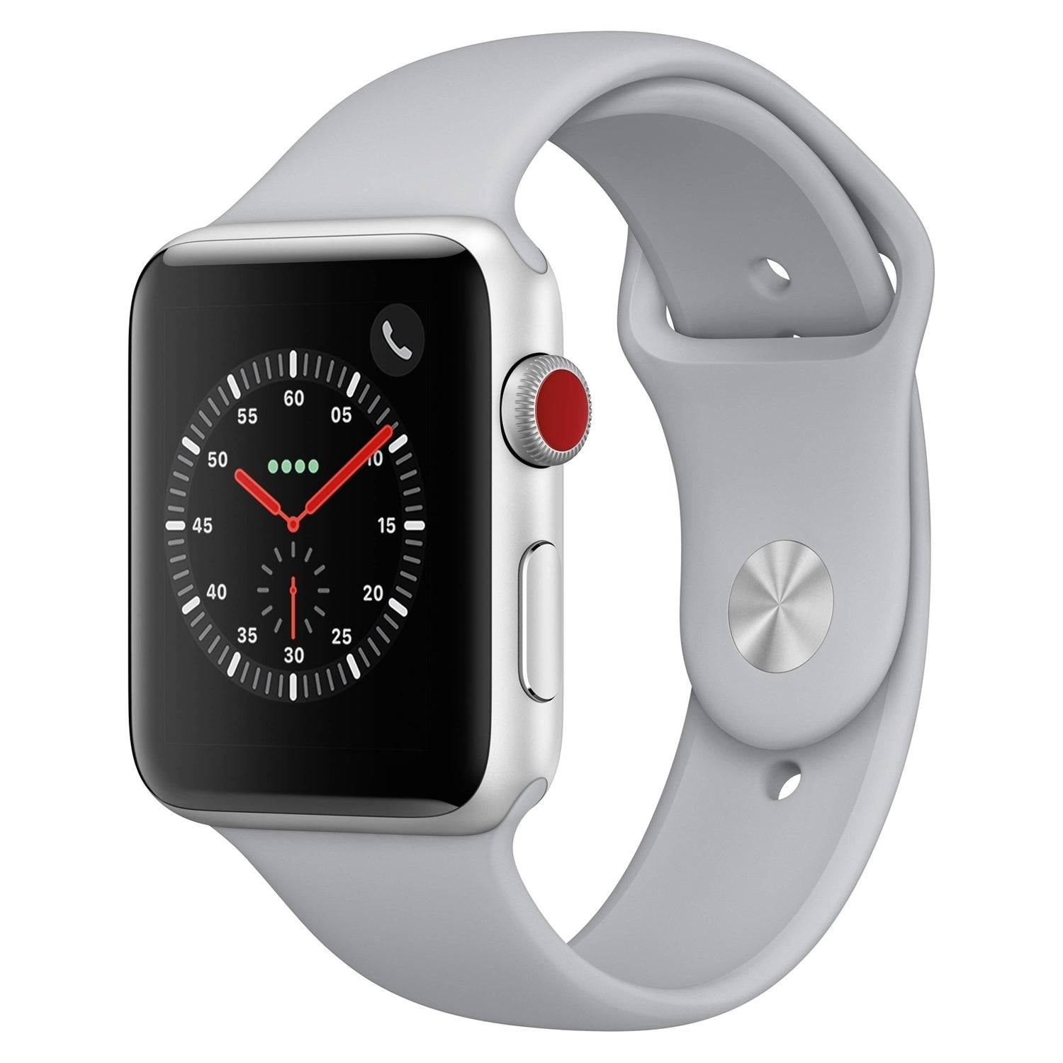 Refurbished Apple Smart Watch S3 GPS + Cellular Stainless Steel 42m Stainless Steel W/Silver-Fog Band