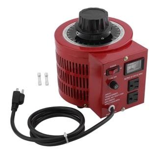 Dial AC Voltage Regulator 110V 2000W Single-Phase Variac Transformer - Red
