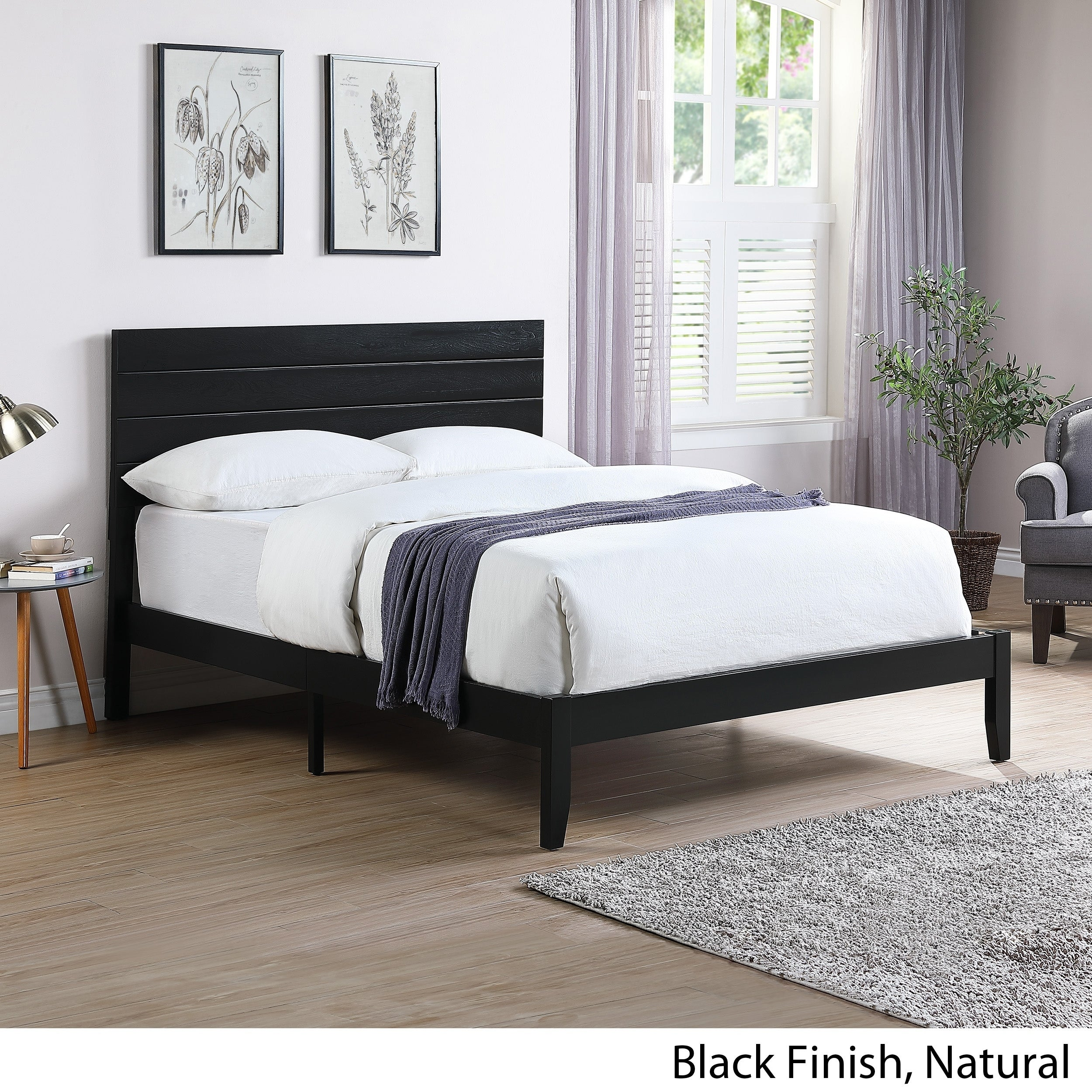 Picture of: Shop Black Friday Deals On Edgecombe Queen Size Bed With Headboard By Christopher Knight Home Overstock 27569087