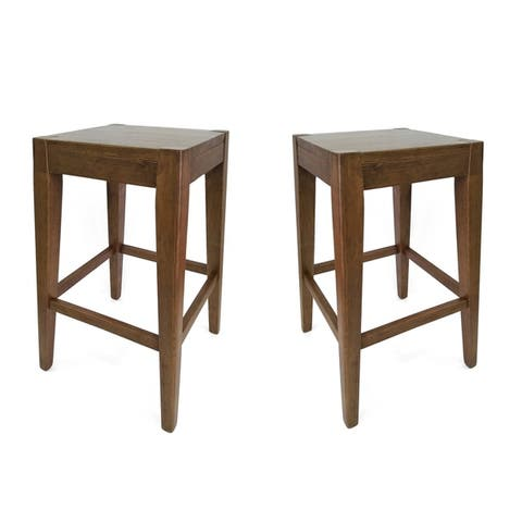 """Farmhouse 26"""" Wooden Counter Stool (Set of 2) by Christopher Knight Home"""