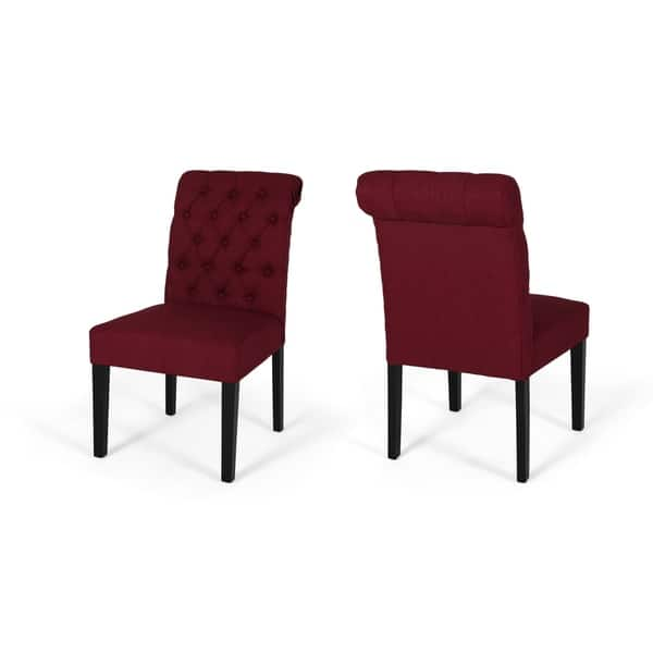 Surprising Shop Broxton Tufted Rolltop Dining Chairs Set Of 2 By Beatyapartments Chair Design Images Beatyapartmentscom