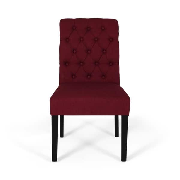 Excellent Shop Broxton Tufted Rolltop Dining Chairs Set Of 2 By Beatyapartments Chair Design Images Beatyapartmentscom