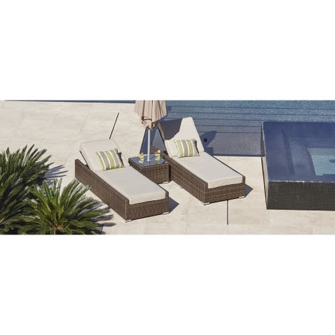 Stillwater 3-piece Outdoor Chaise Lounge Set Patio Chairs and Side Table by Havenside Home