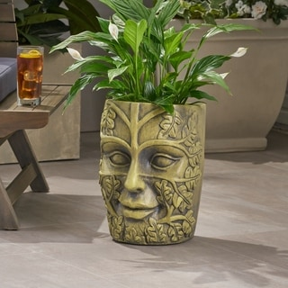 Christopher Knight Home Ash Cast Stone Outdoor Mother Earth Urn