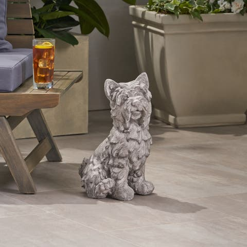 Christopher Knight Home Cricket Terrier Dog Outdoor Garden Statue