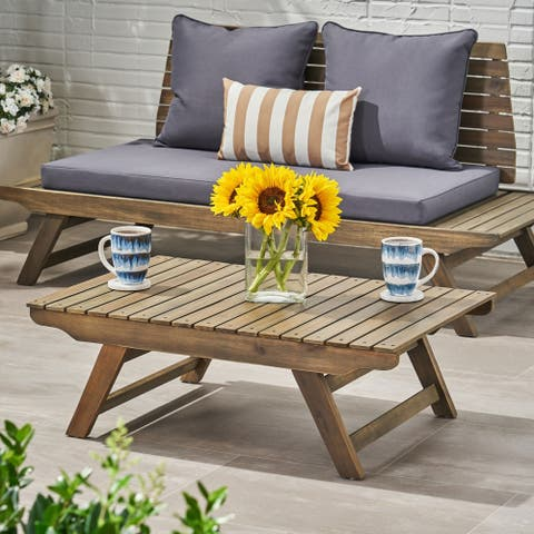 Sedona Outdoor Wooden Coffee Table by Christopher Knight Home