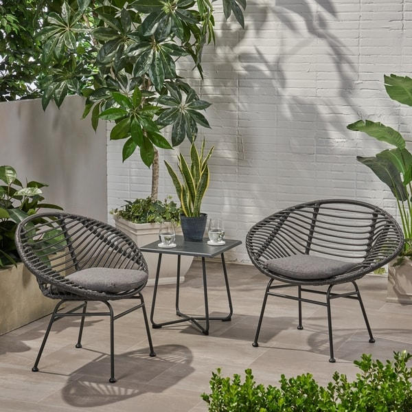 Patio Furniture Stores San Antonio: Shop San Antonio Outdoor Woven Faux Rattan Chairs With