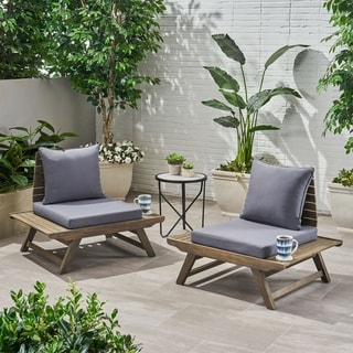 Link to Sedona Outdoor Mid Century Tufted Accent Arm Chairs (Set of 2) by Christopher Knight Home Similar Items in Outdoor Sofas, Chairs & Sectionals