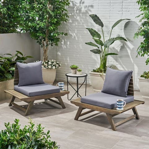 Sedona Outdoor Acacia Wood Chair (Set of 2) by Christopher Knight Home