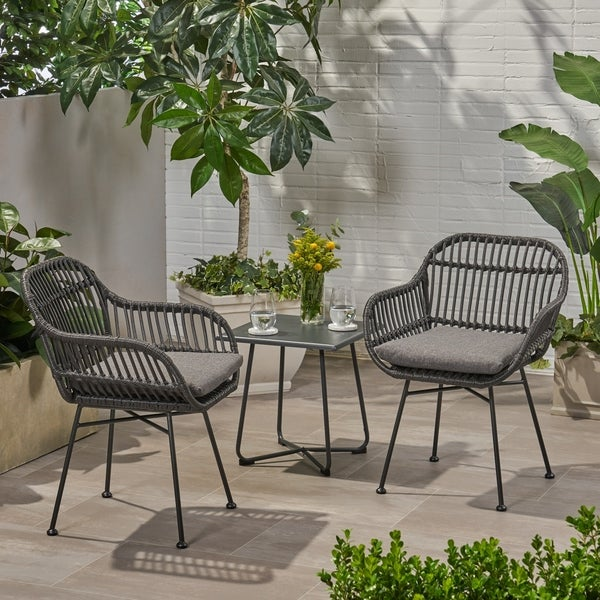 Outdoor Furniture Orlando: Shop Orlando Outdoor Woven Faux Rattan Chairs With