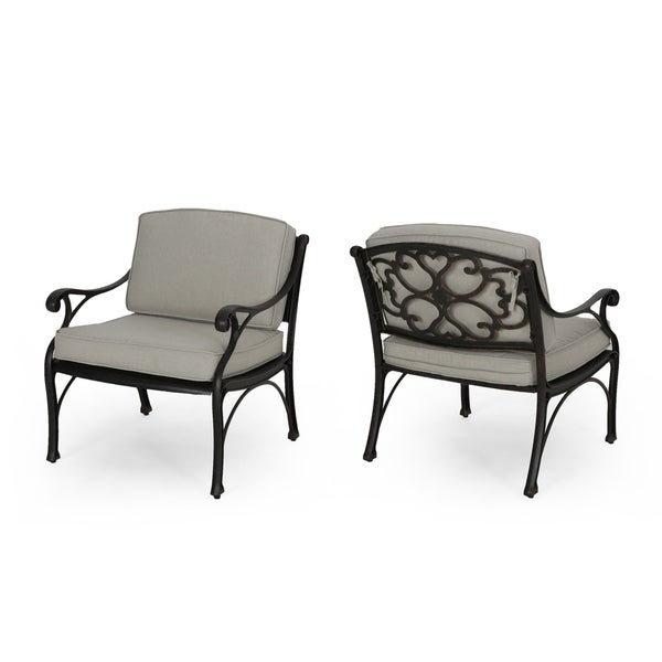 Sunshine Outdoor Club Chairs With Cushions (Set Of 2) By Christopher Knight  Home