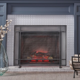 Cabarrus Modern Single Panel Fireplace screen by Christopher Knight Home - N/A