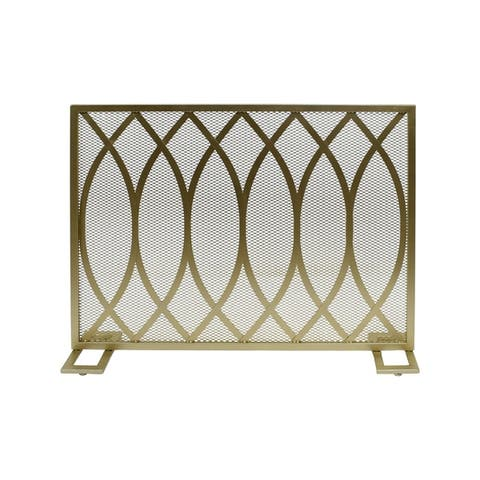 Buncombe Modern Single Panel Iron Firescreen by Christopher Knight Home