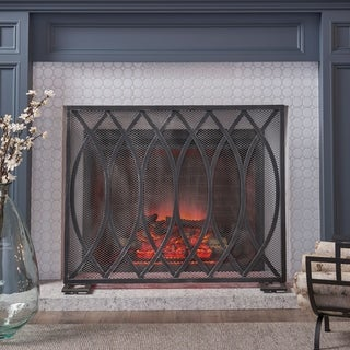 """Buncombe Modern Single Panel Fireplace screen by Christopher Knight Home - 30.75"""" H x 41.00"""" W x 8.00"""" D"""