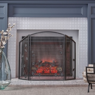 Link to Greenbrier Iron Firescreen by Christopher Knight Home Similar Items in Decorative Accessories