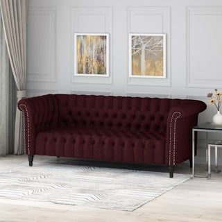 Link to Barneyville Traditional Chesterfield Sofa with Tufted Cushions by Christopher Knight Home Similar Items in Sofas & Couches