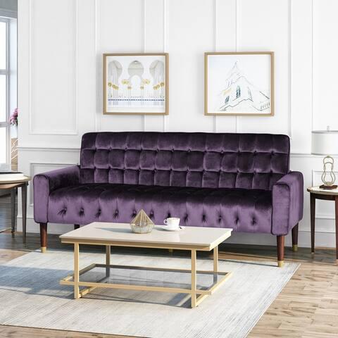 Hertford Velvet Sofa by Christopher Knight Home