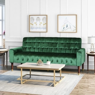 Link to Hertford Velvet Sofa by Christopher Knight Home Similar Items in Sofas & Couches