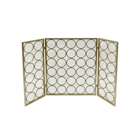 """Hartly Modern Three Panel Fireplace screen by Christopher Knight Home - 30.00"""" H x 46.75"""" W x 1.25"""" D"""