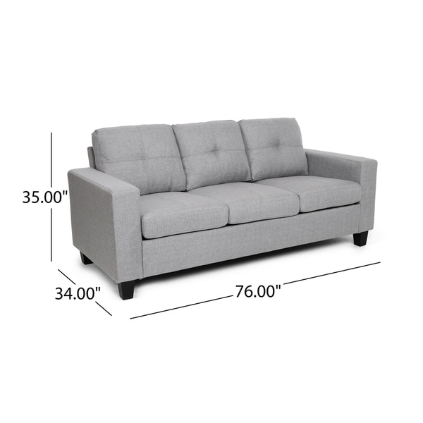Bowden Polyester Three-seater Sofa by Christopher Knight Home