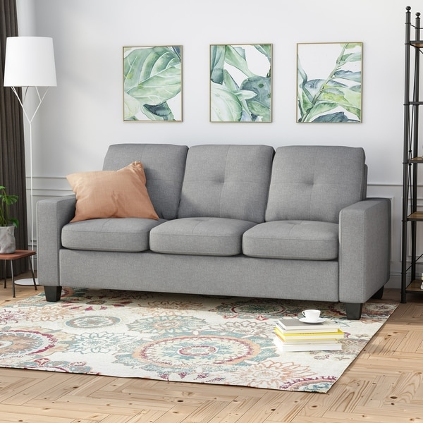 Bowden Polyester Three-seater Sofa by Christopher Knight Home. Opens flyout.