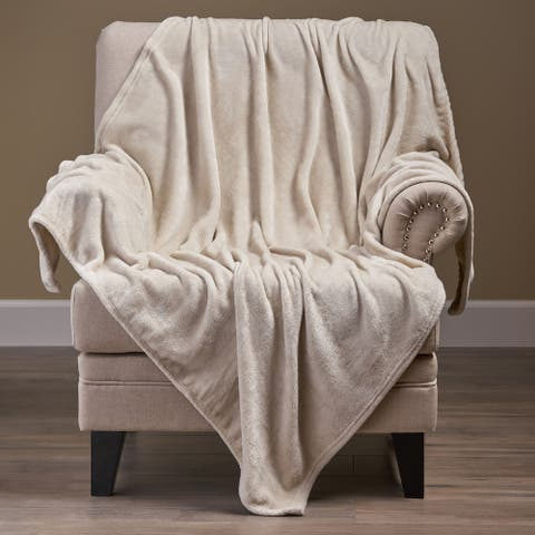 Alanton Flannel Throw Blanket by Christopher Knight Home