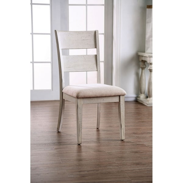 Shop Transitional Solid Wood And Fabric Upholstered Side