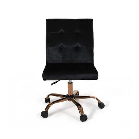 Christopher Knight Home Centennial Glam Tufted Velvet Home Office Chair with Swivel Base