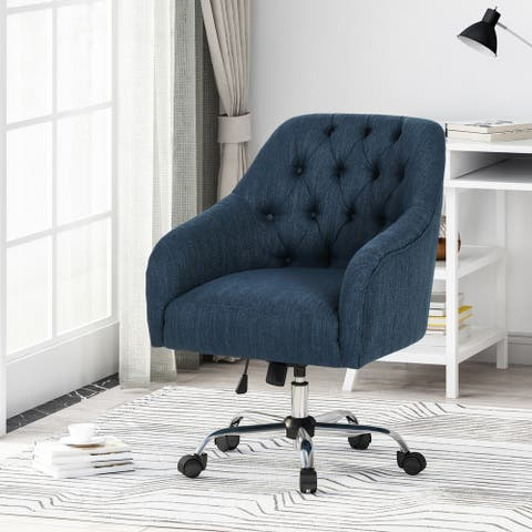 Barbour Tufted Home Office Chair with Swivel Base by Christopher Knight Home